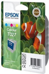 Epson T027 - farge (cyan, magenta, gul, lys cyan, lys magenta) - original - blekkpatron (C13T02740110)