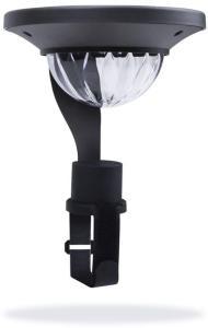 Smartwares Soldrevet balkonglampe med sensor 0,2 W svart GBS-001-DB