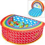 Worlds Apart Pop-up-ballbinge 2-i-1 Rainbow 100x76x30 cm flerfarget
