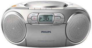 Philips Bærbar radio AZ127 - boombox - CD Cassette - FM - Stereo - Sølv AZ127/12