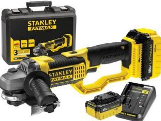 Batteridrevet vinkelsliper Stanley 18V 2x4,0 Ah batt.
