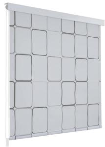 Ariadna Rullegardin til Dusj 140x240 cm Firekant - Hvit/Grå
