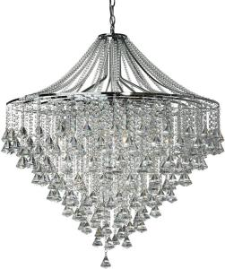 Dorchester Taklampe 7L Crystal Buttons & Pyramid Drops - Searchlight
