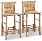 vidaXL Barstoler 2 stk bambus