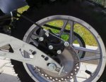 0 Bakhjul til 1000w sparkesykkel