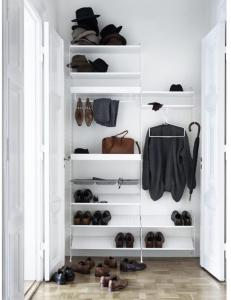 Garderobesystem Hvit XXL String