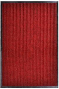 vidaXL Dørmatte rød 160x220 cm PVC