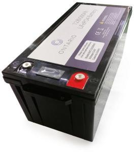 Ontario 12.8V 200Ah LifePO4 lithium batteri (med blåtann) for båt, hytte, campingvogn og bobil (forbruk) (ONT12V200AH)