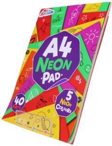 Grafix tegnebok med neonfargede ark - A4