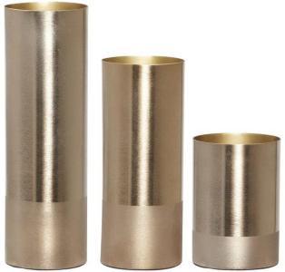 Hübsch Vase Metall Gull, 3stk (507-270608)