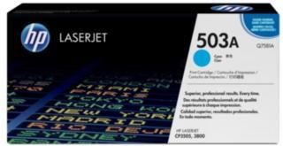 HP 503A Tonerkassett cyan, 6.000 sider Q7581A Tilsvarer: N/A HP