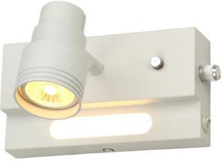 Namron Pluto enkel dimbar GU10 og LED nattlys Matt Hvit 3202172 Spotlight / Lampe
