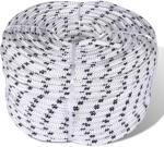 vidaXL Flettet båttau polyester 6 mm 500 m hvit