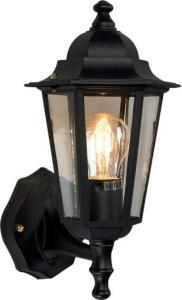 Elektro-Armatur Kristiansand utelampe vegg opp sort 3103190002 Taklampe / Vegglampe