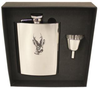 Stabilotherm Pocket Flask 0,2 L + Gift Box, Roe Deer, OneSize