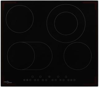 vidaXL Keramisk komfyr med 4 plater berøringskontroll 6600 W