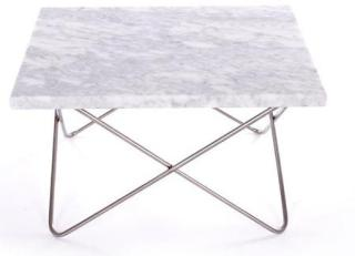 OX DENMARQ Xsmall table - white, stainless frame