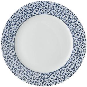 Frokostasjett 20cm. Laura Ashley Floris blå/hvit porselen