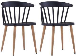 Be Basic Spisestoler 2 stk plast svart -