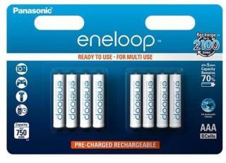 Panasonic eneloop USB Lader BQ CC61 til 4x AAAAA batterier