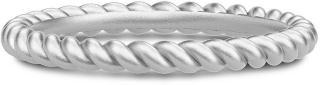 Julie Sandlau Twisted Ring 52 - Rhodium Ring Smykker Sølv Julie Sandlau Women