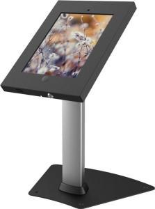 EPZI bordstativ för iPad 2/3/4/Air, två nycklar, låshål, silv