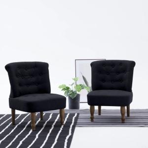 vidaXL Fransk stol svart stoff