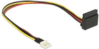 Power Cable SATA 15 pin receptacle > 4 pin floppy male metal 30 cm 85511