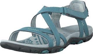 Merrell Sandspur Rose Leather Blue Smoke, Sko, Sandaler og Tøfler, Flate sandaler, Turkis, Dame, 39