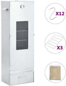 vidaXL Røykovn og grill med 1kg treflis 44,5x29x124 cm