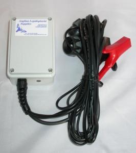 Lyskit til 15W aktinisk lysrør for insektfangst (mobilt) 12 V strømforsyning til bilbatteri o.l.