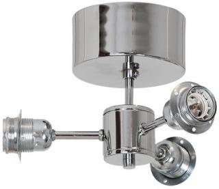 Zuma Trio Takplafond 230V 3xE27/3x40W Sølv Hallbergs Belysning