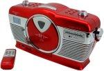 Soundmaster Retro CD Radio Rød Unisex