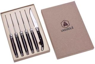 Laguiole - Biffkniver - Ibenholt - 6 stk.