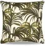 Palmeral pute 45x45 cm hvit/grønn House of Hackney
