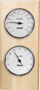 TYLØ Hygrometer og termometer bjørk
