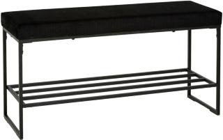 Vito - Benk med skohylle sort 101x34x51cm Mdf, Metall