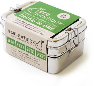 ECOlunchbox Three-In-One Classic Stainless Steel