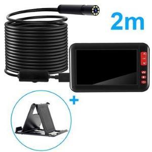 Vanntett HD Endoskop-kamera med LCD-skjerm & Holder - 2m