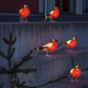 Konstsmide Akryl Fugle - Robin