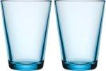 Kartio glass 40 cl 2-pk lysblå Iittala