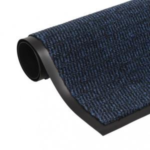 Dørmatte rektangulær 60x90 cm blå