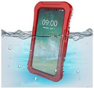iPhone X / iPhone XS Active Series IP68 Vanntett Mobilpose - Rød