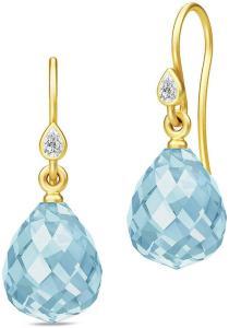 Julie Sandlau Droplet Earrings - Gold/Blue Øredobber Smykker Blå Julie Sandlau Women