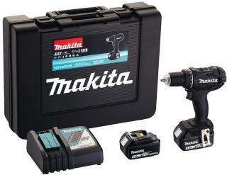 Skrutrekker/bor Makita DDF482RFEB 18 V 2x3,0 Ah batteri. svart