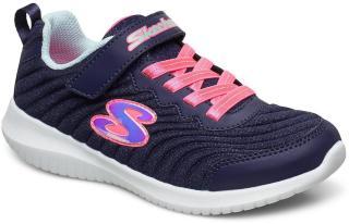 Skechers Girls Ultra Flex Sneakers Sko Blå Skechers