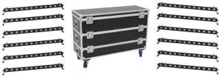Eurolite Set 12x LED BAR-12 QCL RGBW Bar&Case L