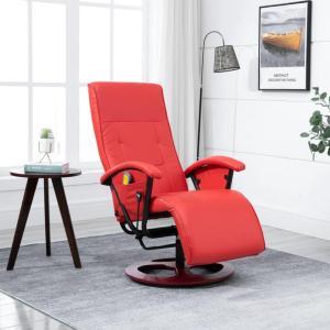 vidaXL Massasjestol rød kunstig skinn