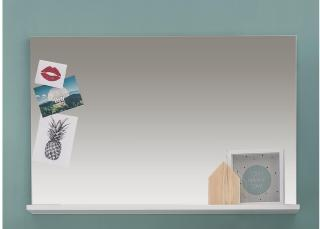 Hernandes Speil 91 cm - Hvit/Hvit Høyglans