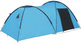vidaXL Campingtelt igloformet 450x240x190 cm for 4 personer blå